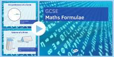 GCSE Maths Formulae PowerPoint
