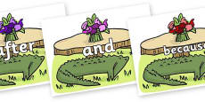Connectives on Trick Four to Support Teaching on The Enormous Crocodile