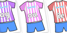 Phase 5 Phonemes on Football Strip