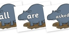 Tricky Words on Humpy Rumpy Hippopotamus to Support Teaching on The Enormous Crocodile