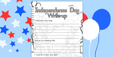 Independence Day Write Up Activity Sheet