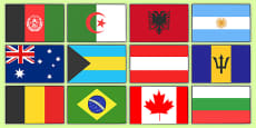The Olympics Flags of the World