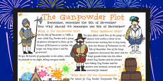 The Gunpowder Plot Large Information Poster KS2