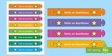 * NEW * Student of the Week (Dalta na Seachtaine) Wristband Gaeilge
