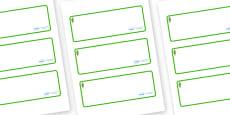 Poplar Tree Themed Editable Drawer-Peg-Name Labels (Blank)