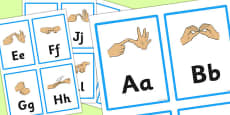 British Sign Language Manual Alphabet Flash Cards