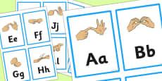 British Sign Language Manual Alphabet Flash Cards