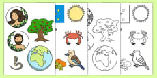 Adam and Eve Creation Story Cut Outs