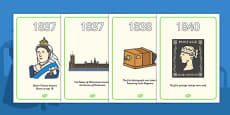 Victorians Timeline Display Posters