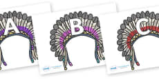A-Z Alphabet on Headdresses