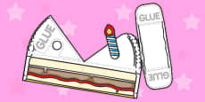 Simple Cake Slice Paper Model