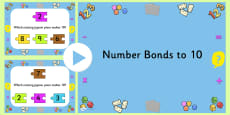 Number Bonds To Ten Jigsaw PowerPoint