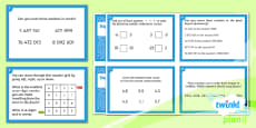 PlanIt Y6 Number and Place Value Challenge Cards