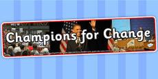 Champions for Change IPC Photo Display Banner
