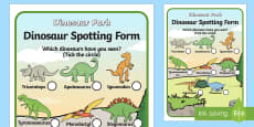 Dinosaur Spotting Form
