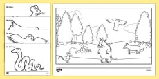 The Gruffalo Colouring Pages German/Deutsch