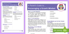 * NEW * New Zealand Growth Mindset Parent and Carer Information Sheet