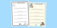 The Story of Miss Moppet Trace the Words Activity Sheets