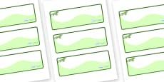 Iguana Themed Editable Drawer-Peg-Name Labels (Colourful)