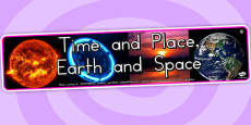 Time and Place Earth and Space Photo Display Banner (Australia)