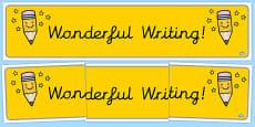 Wonderful Writing Cursive Display Banner