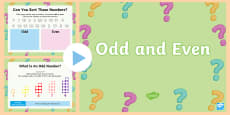 * NEW * KS1 Odd and Even PowerPoint