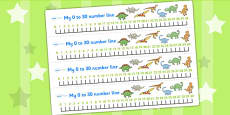Dinosaurs Number Line (0-30)