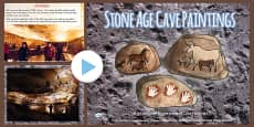 Stone Age Cave Paintings Photo PowerPoint