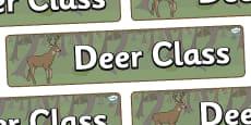 Deer Themed Classroom Display Banner