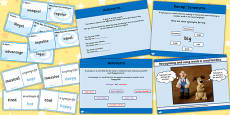 Identifying an Antonym SPaG Lesson Teaching Pack