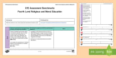 * NEW * CfE Fourth Level Religious and Moral Education Benchmarks Assessment Tracker