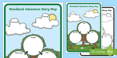 * NEW * Woodland Adventure Story Map Activity