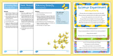 EYFS Butterfly Life Cycle Science Experiments Pack