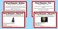 Guided Reading Skills Task Cards Story Elements Polish Translation