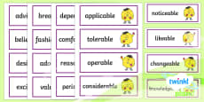 PlanIt English Additional Resources Year 6 Term 1B Word Cards
