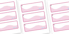 Cherry Tree Themed Editable Drawer-Peg-Name Labels (Colourful)