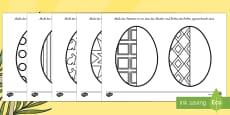 Easter Egg Symmetry Sheets German