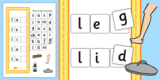 CVC l Word Activity Including Phase 2 Letters and Sounds