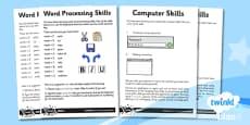 PlanIt - Computing Year 3 - Word Processing Skills Home Learning Tasks