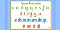 Large Letter Formation Poster