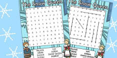 The Snow Queen Wordsearch