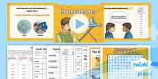 PlanIt Y4 Term 1A W5: Homophones and Near Homophones Spelling Pack