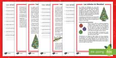 Comprensión lectora de atención a la diversidad 2º ciclo: Los árboles de Navidad