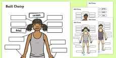 Body Parts Labelling Activity Gaeilge