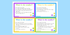Place Value Riddle Challenge Cards