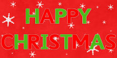 Happy Christmas Display Letters