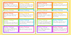 Australia - Guided Reading Challenge Cards