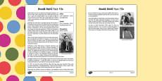 Roald Dahl Fact File