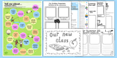 KS2 First Day Back Activity Pack Spanish Translation