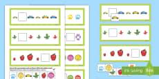 * NEW * Missing Pattern Cards Activity English/Polish
